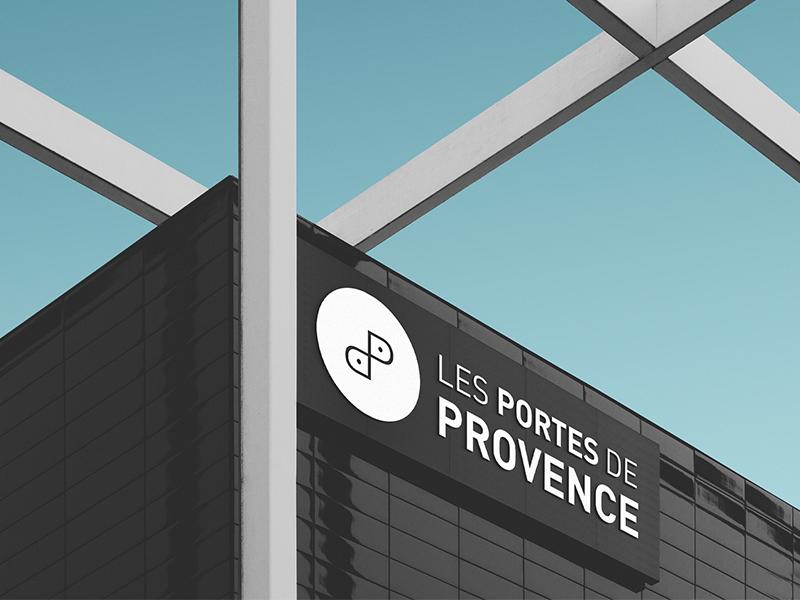 Porte-de-Provense--cenre-comerciale-logotype-branding